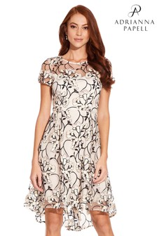 Adrianna Papell Graphic Radiance Fit And Flare Dress