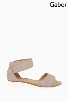 Gabor Cream Geena Cobra Suede Sandals