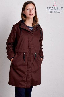 Seasalt Brown Polperro 3 Season Coat