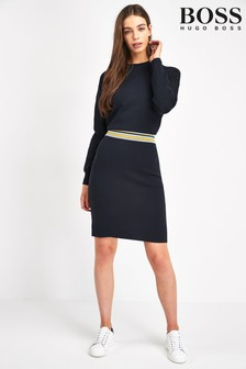 BOSS Blue Iwearit Crew Neck Jumper Dress