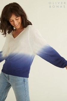 סוודר שלOliver Bonas בהדפס טבילה כחול