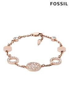 Fossil Rose Gold Vintage Glitz Bracelet