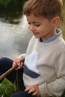 The White Company Pebble Sailboat Knit Jumper