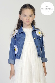 Charabia Blue Butterfly Denim Jacket