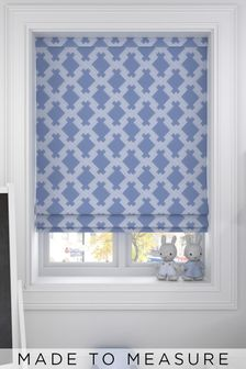 Kendrick Ink Blue Made To Measure Roman Blind
