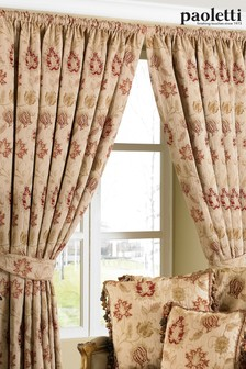 Zurich Floral Jacquard Pencil Pleat Curtains by Riva Paoletti