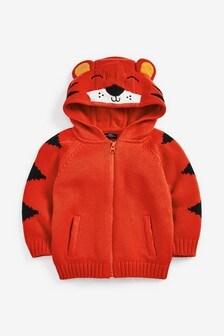 Tiger Hooded Zip Through Cardigan (3mths-7yrs)
