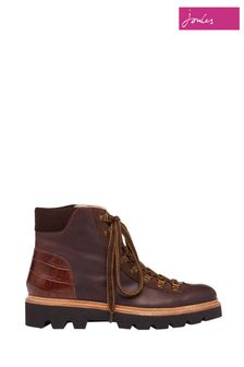 Joules Brown Montrose Lace Up Hiker Boots