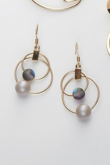 Circle Detail Drop Earrings