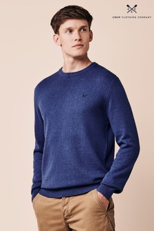 Crew Clothing Company Blue Foxley Crew Neck Jumper