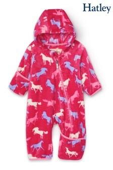 Hatley Horse Silhouettes Fuzzy Fleece Baby Bundler
