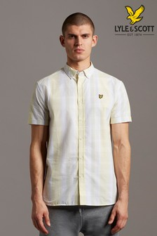 Lyle & Scott Plus Size Check Short Sleeve Shirt