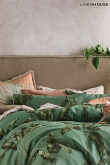 Set of 2 Livia Banana Leaf Pillowcases by Linen House