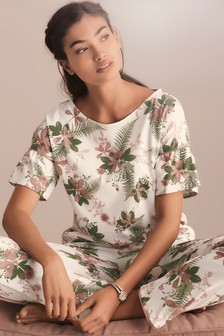 Ruffle Palm Pyjama Set