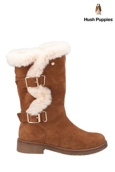 Hush Puppies Tan Megan Ladies Mid Boots