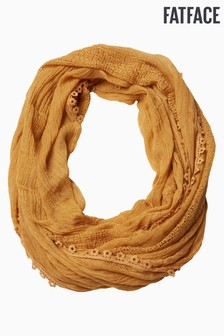 FatFace Yellow Plain Snood