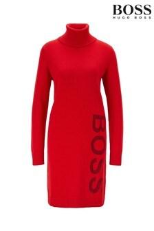 BOSS Red Wabellettas Turtle Neck Jumper Dress