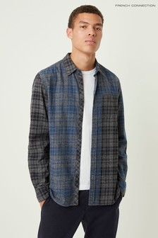 French Connection Black Grindle Check Shirt