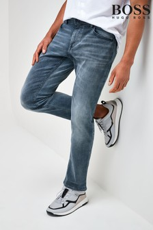 BOSS Grey Delaware Slim Fit Jeans