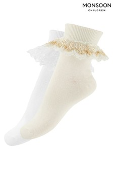 Monsoon Natural Girl Socks Two Pack