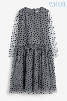 Wheat Grey Dress Tulle Minnie Mouse