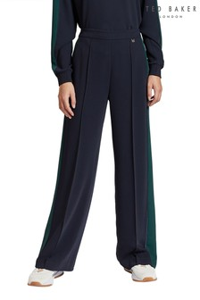 Ted Baker Blue Clarpa Wide Leg Trousers