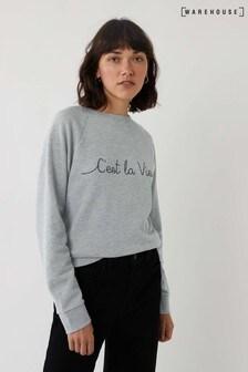 Warehouse Grey C'est La Vie Sweater