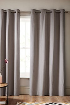 Textured Spot Dobby Eyelet Curtains