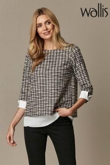 Wallis Pink Check 2 In 1 Shirt