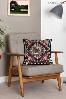Mix/Holly Fulton Geometric Animal Print Cushion