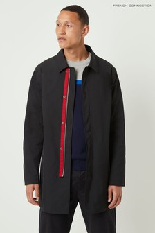 French Connection Black Polyester Twill Mac