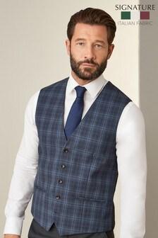 Signature Bold Check Slim Fit Suit