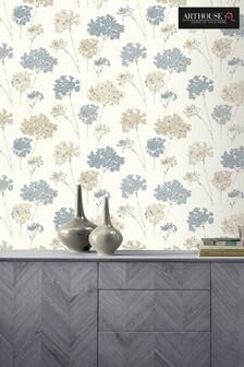Arthouse Blue Anya Floral Wallpaper