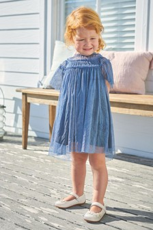 Glitter Mesh Party Dress (3mths-7yrs)