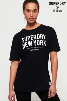 Superdry Kellow Graphic Oversized T-Shirt