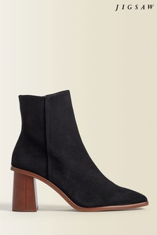 Jigsaw Black Conduit Leather Ankle Boots