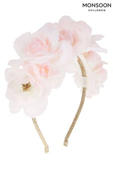 Monsoon Pink Gardenia Flower Headband