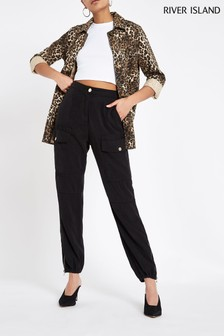 River Island Black Hailey Tencel® Trousers