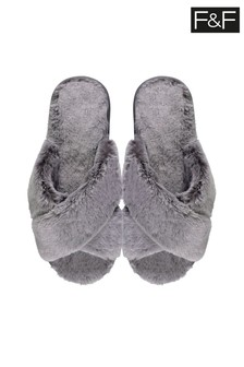 F&F Grey Slippers