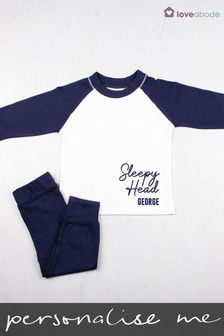 Personalised Sleepy Head Pyjamas by Loveabode