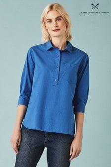 Crew Clothing Blue Foxglove Popover Shirt