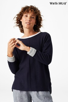 White Stuff Blue Masterful Jumper