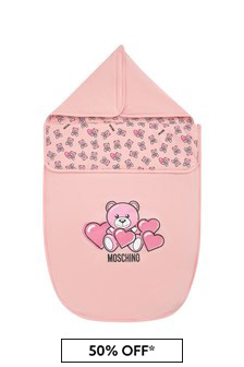 Moschino Kids Baby Girls Pink Cotton Nest