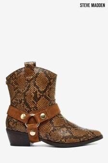 Steve Madden Brown Snake Western Boots