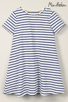 Mini Boden Blue Mini Me Charlie Jersey Dress