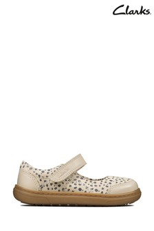 Clarks White FlashBright T Shoes