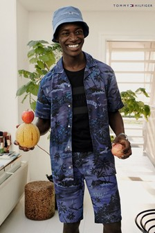 Tommy Hilfiger Blue Hawaiian Short Sleeve Shirt