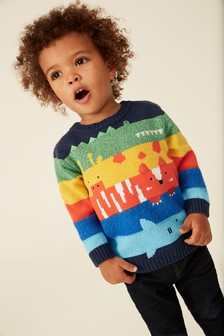 Animal Stripe Jumper (3mths-7yrs)