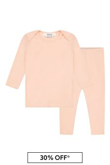 Bonpoint Baby Girls Pink Cotton Outfit