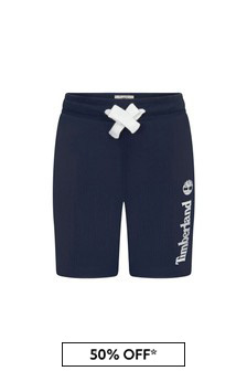 Timberland Navy Cotton Shorts